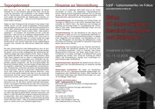 Tríptico - Presentación, LatiF 2009