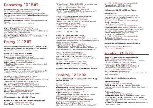 Tríptico - Programa, LatiF 2009
